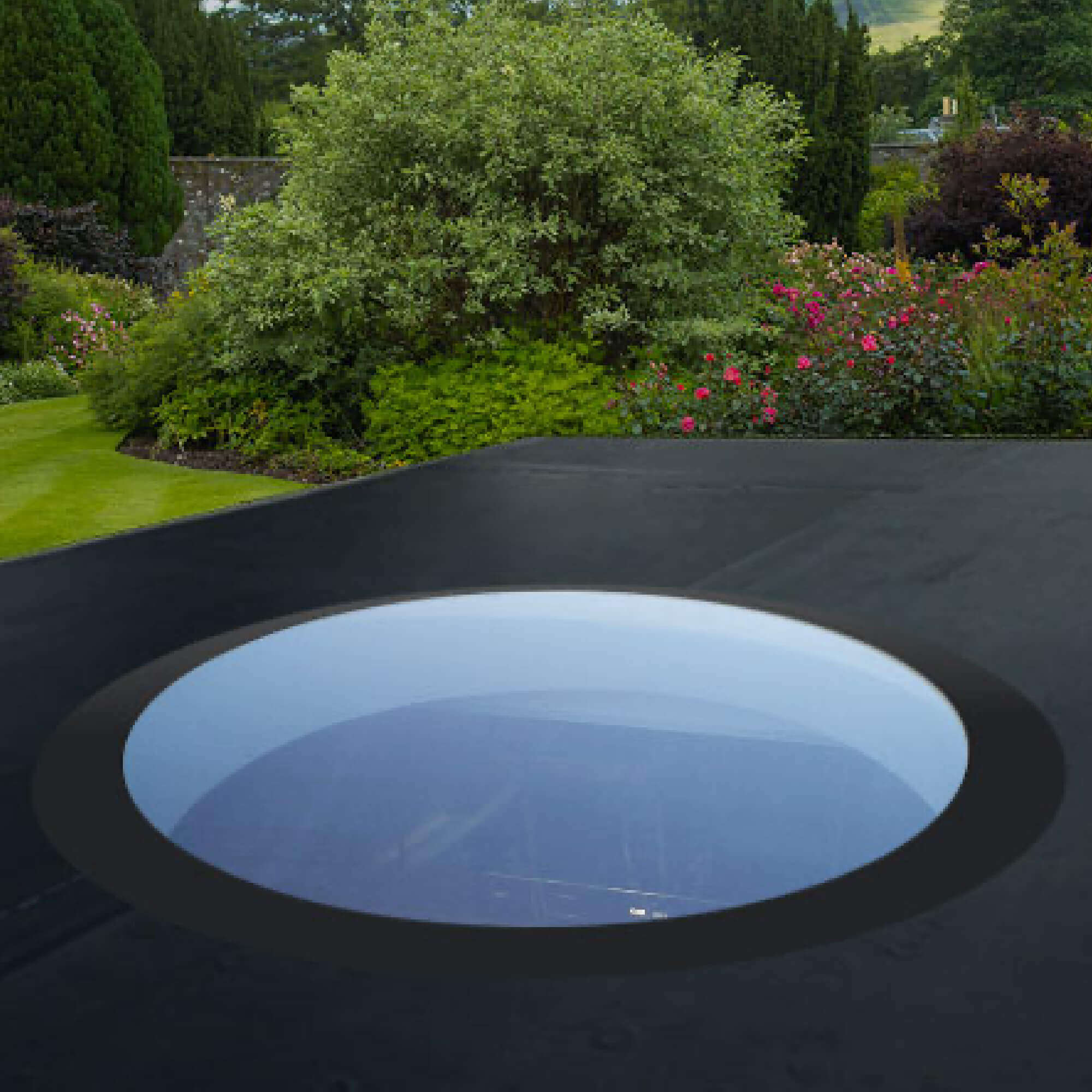 Flat Round Rooflight