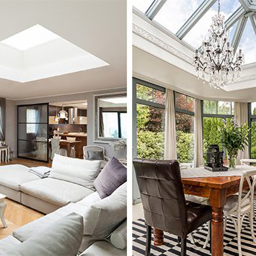 What is the difference between a rooflight and a roof lantern?