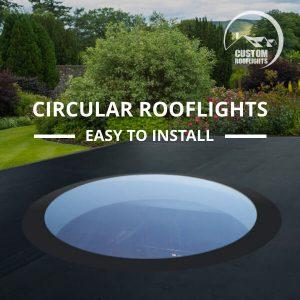 Flat Round Rooflight / Skylight